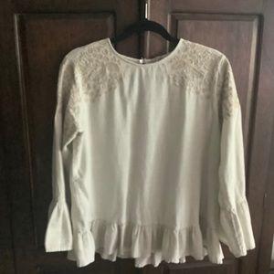 Zara Soft Cotton Flannel Smock Top